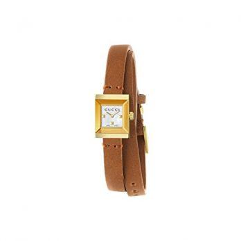 Gucci Armbanduhr | uhr von Gucci | Damenuhr braun | Lederarmbanduhr Damen | dünne Armbanduhr Damen | hellbraune Armbanduhr