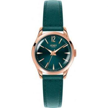Henry London Damen Uhr | Armbanduhr Henry London | Grüne Damenuhr | Damenuhr mit grünem ziffernblatt