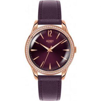 Henry London Damen Uhr | Armbanduhr Henry London | Violette Armbanduhr damen