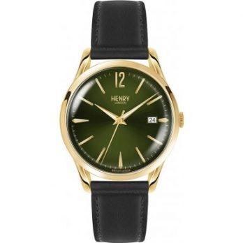 Henry London Armbanduhr | Schwarz-grüne Armbanduhr | Armbanduhr mit grünem ziffernblatt