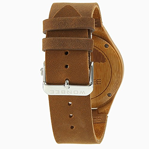 Wonbee Herren Bambus Holz Handgelenk Uhren Von Wonbee Mit Genarbtem