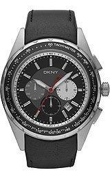 DKNY Herrenuhr | DKNY Uhr | Schwarze Herrenuhr | Herrenuhr mit schwarzem Ziffernblatt | Lederband Schwarz Armbanduhr