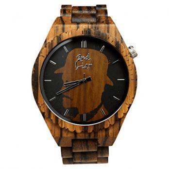 holzuhr | armbanduhr holz  | zebranoholz armbanduhr