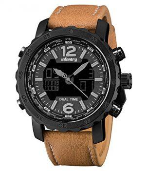 Fliegeruhr | Armbanduhr echtleder braun