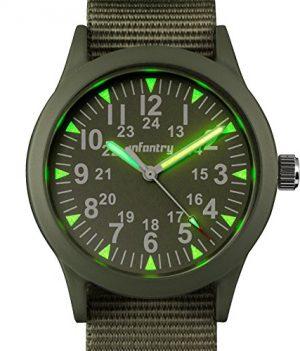 Armbanduhr Outdoor | Armee Militär Armbanduhr | grüne analoge Armbanduhr | Sportuhr