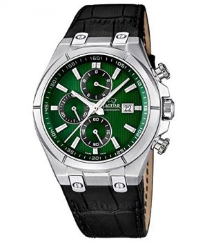 Herrenuhr   Armbanduhr Herren   Schwarz-grüne Armbanduhr  