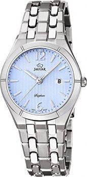 Damenuhr | Jaguar Damenuhr | Armbanduhr Jaguar | Armbanduhr mit hellblauen Ziffernblatt | silber-hellblaue Armbanduhr damen