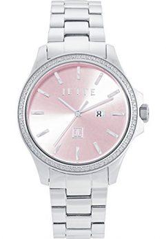 Jette Uhr | Armbanduhr Jette | Damenuhr Jette | Silber-rosa Armbanduhr damen