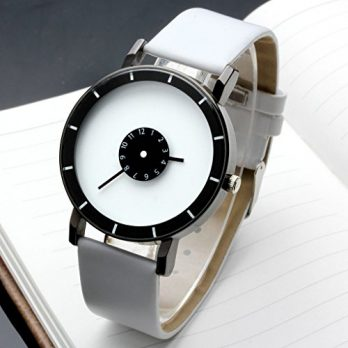 weiße armbanduhr | quarzuhr weiß | lederarmband weiß
