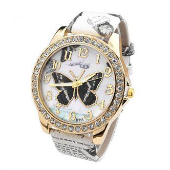armbanduhr damen | armbanduhr mit schmetterling | quarzuhr