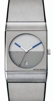 Jacob Jensen Uhren | Armbanduhr Jacob Jensen | silber-graue armbanduhr | Armbanduhr mit grauem ziffernblatt