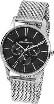 Jacques Lemans Uhr | herrenuhr Jacques Lemans | Armbanduhr Jacques Lemans | Edelstahl herrenarmbanduhr | Silber Herrenuhr