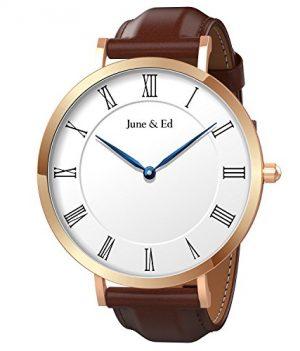 Herrenuhr | Lederarmbanduhr Herren | June & Ed Uhr | Armbanduhr June & Ed