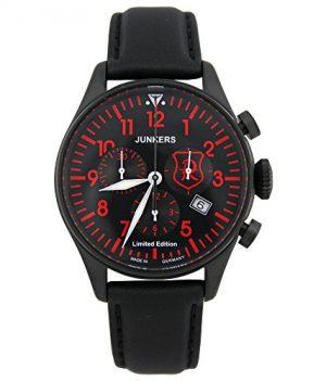 Junkers Armbanduhr | schwarz-rote Armbanduhr