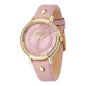Just Cavalli Uhr | Armbanduhr damen Just Cavalli | pink armbanduhr | damenuhr pink | lederarmbanduhr pink
