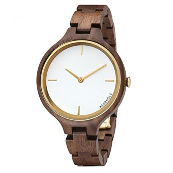 Holzarmbanduhr | walnuss Armbanduhr | damenuhr holz