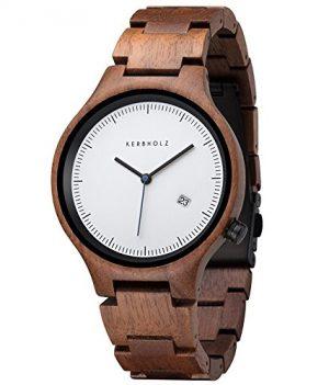 Holzarmbanduhr | Kerbholz Uhr | ArmbanduhrKerbholz | Herrenuhr Kerbholz