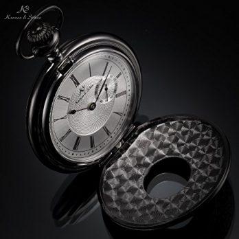 taschenuhr quarz | schwarze taschenuhr