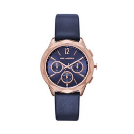 Karl Lagerfeld   Armbanduhr Karl Lagerfeld   Damenuhr Karl Lagerfeld   dunkelblaue Armbanduhr damen