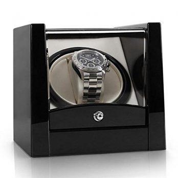 Uhrenbox | Aufbewahrungsbox Uhr | Kunstleder Uhrenkiste | 1 Uhr Box