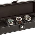 Uhrenbox | Aufbewahungsbox für Uhren | Schwarze Uhrenbox