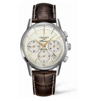 Longines Uhr | Armbanduhr Longines | Herrenuhr Longines | Lederarmbanduhr herren | braune herrenuhr