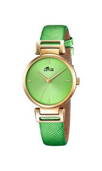 Lotus Uhr | Armbanduhr Lotus | Damenuhr Lotus | grüne Damenuhr | Armbanduhr grün | auffällige armbanduhr