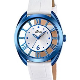 Lotus Uhr   Armbanduhr Lotus   Damenuhr Lotus   weiß-blaue damen armbanduhr   analoge armbanduhr weiß-blau