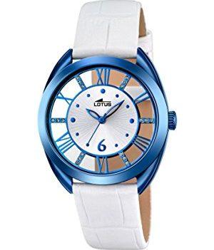 Lotus Uhr | Armbanduhr Lotus | Damenuhr Lotus | weiß-blaue damen armbanduhr | analoge armbanduhr weiß-blau
