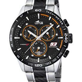 Lotus Uhr   Armbanduhr Lotus   Herrenuhr Lotus   Armbanduhr silber schwarz
