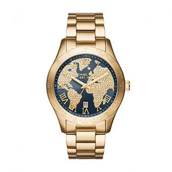 Michael Kors Uhr | Armbanduhr Michael Kors | Damenuhr Michael Kors | Armbanduhr mit ziffernblatt als weltkarte