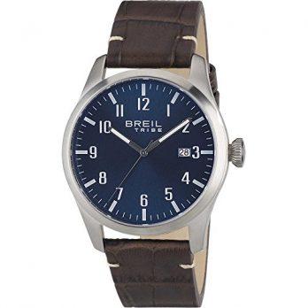 Breil armbanduhr | armbanduhr mit braunem lederband | dunkel braunes lederband armbanduhr