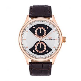 multifunktionsuhr | lederarmband multifunktionsarmbanduhr | edelstahl rosegold armbanduhr