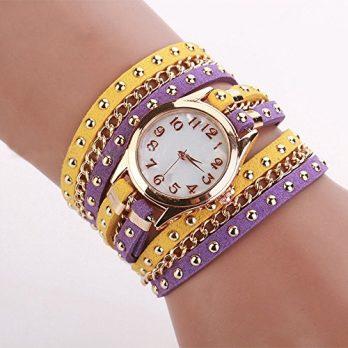 Analoge Armbanduhr | Leder Armbanduhr Analog | Damen Leder Uhr