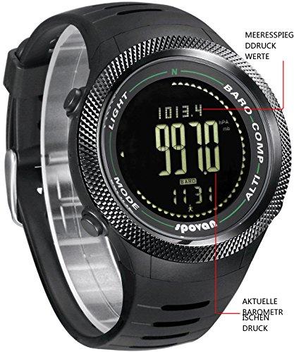 spovan armbanduhr digital kompass 5 atm wasserdicht 3d. Black Bedroom Furniture Sets. Home Design Ideas