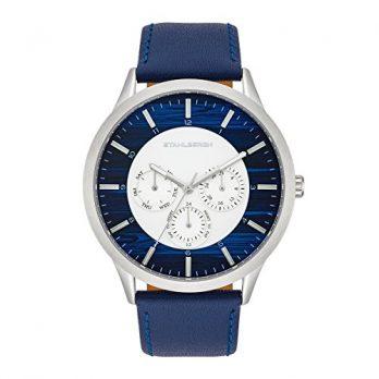multifunktionsuhr | blaue armbanduhr multifunktionell | Datum anzeige armbanduhr | blaue armbanduhr