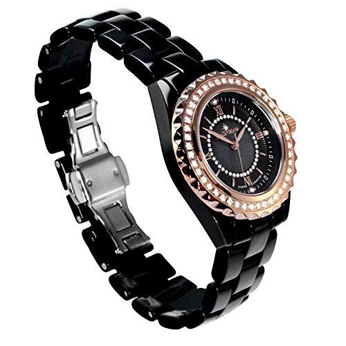 stella maris damen armbanduhr analog quarz premium keramik diamanten stm15e4. Black Bedroom Furniture Sets. Home Design Ideas