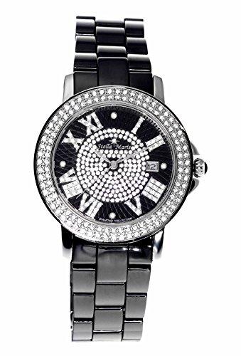 stella maris damen armbanduhr analog quarz premium keramik diamanten stm15p2. Black Bedroom Furniture Sets. Home Design Ideas