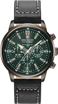 multifunktionsarmbanduhr | grüne-schwarze armbanduhr