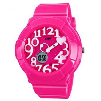 Armbadnuhr digital | digitale armbanduhr | rosa rote armbanduhr