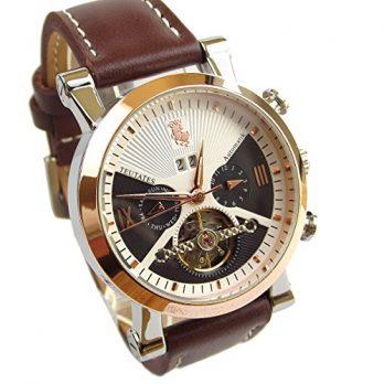 leder mechanische armbanduhr