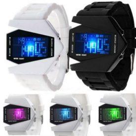 Fliegeruhr Digital | LED Silikon herren Armbanduhr