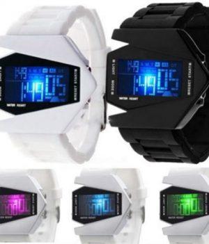 Fliegeruhr Digital   LED Silikon herren Armbanduhr