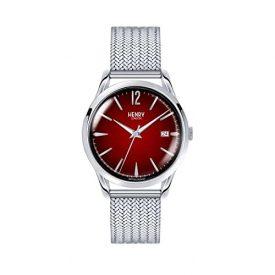 henry London Uhr | Armbanduhr henry london | Armbanduhr mit rotem Ziffernblatt | edelstahl uhr mit rot