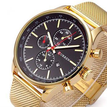 gold edelstahl armbanduhr | mechanische armbanduhr gold