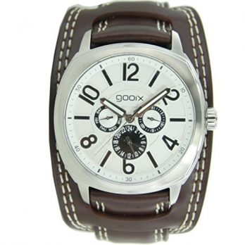 Gooix Uhr | Herrenuhr Gooix | Herrenuhr mit breitem Band | breite Armbanduhr Herren