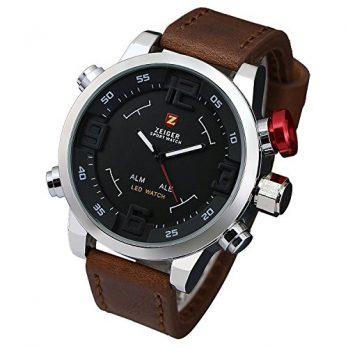 Armbanduhr Herren | Leder Analoge Armbanduhr | Lederarmbanduhr