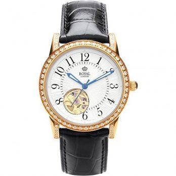 Royal London Uhr | Armbanduhr Royal London | Damenuhr Royal London |  Automatikuhr Damen | schwarze automatikarmbanduhr damen