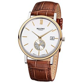 Regent Uhr | Armbanduhr Regent | Herrenuhr Regent | Braune armbanduhr |