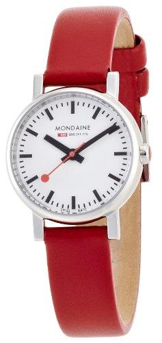 Mondaine Uhr | Armbanduhr Mondaine | Damenuhr Mondaine | rote damen armbanduhr